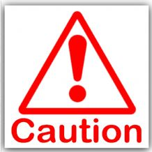 1 x Caution Symbol with Text-Red on White,External Self Adhesive Warning Stickers-Bottle Logo-Health and Safety Sign